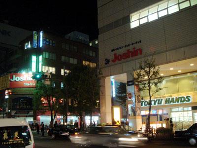 071102_ジョーシン(新)江坂店が入った東急ハンズと旧ジョーシン江坂店