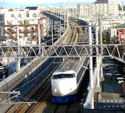 081206_0系新幹線・さよなら運転・山陽新幹線記念公園から