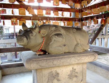 201202_打出天神社・撫で牛