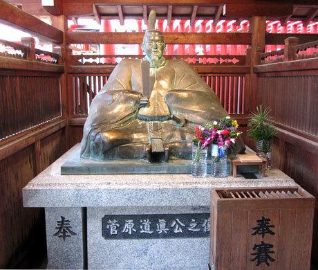 210101_服部天神宮・菅原道真公銅像